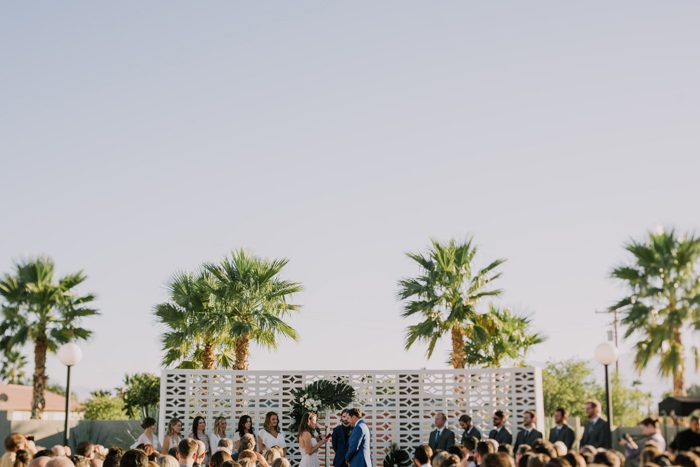 California Desert Dinner Party Wedding at The Lautner