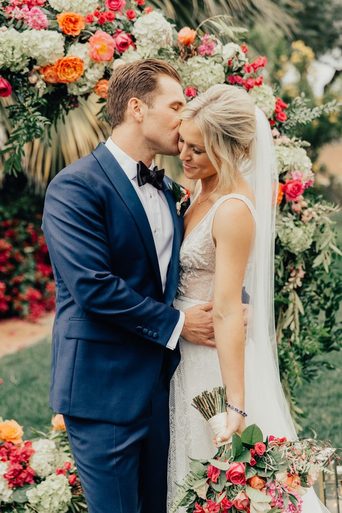 Colorful and Classy Palm Springs Wedding at The Bougainvillea Estate | Junebug Weddings