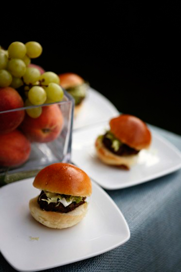 sliders for appetizers - charming Hudson Valley NY wedding photo by top New York wedding photographers Belathee Photography