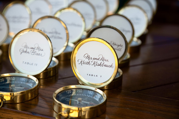 Reception Details Compass Table Numbers Favors Real Wedding