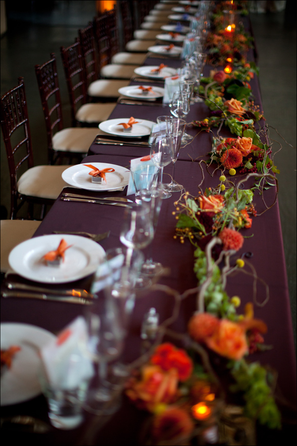 Rustic wedding reception seating arrangement - Wedding Photo by Bradley Hanson