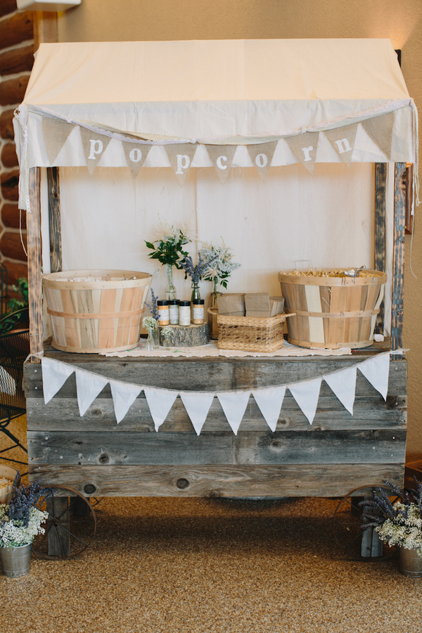 Popcorn Table Decoration With Rustic Vintage Inspiration Wedding
