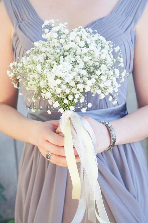 Wedding Photo by Christine Bentley Photography of Bridesmaid with flowers