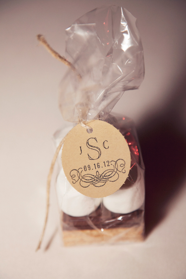 Wedding Photo by Christine Bentley Photography of Smore's favors