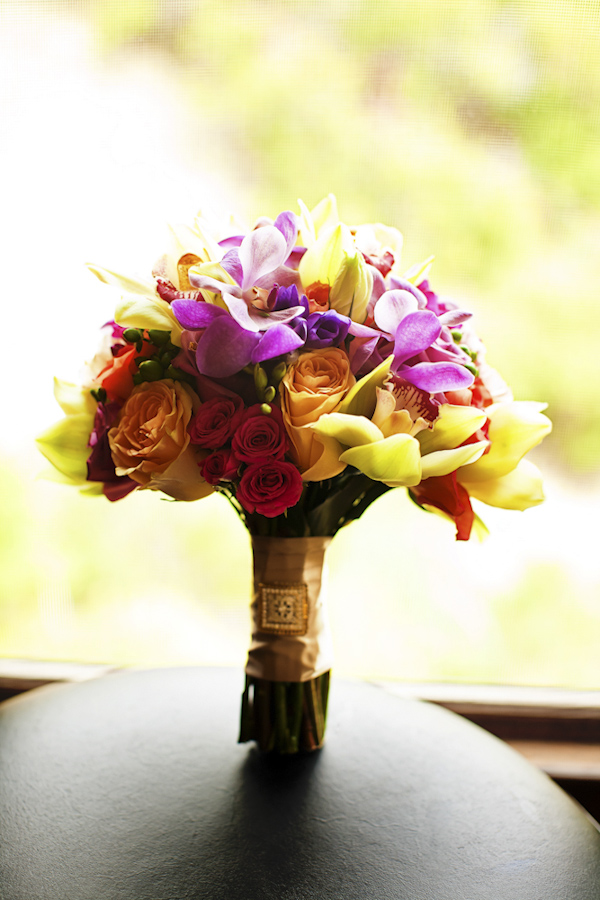bouquet of flowers - wedding photo by top Orange County, California wedding photographers D. Park Photography