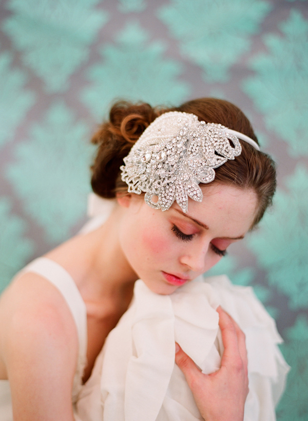 hair accessory designed by Twigs and Honey - vintage inspired bridal fashion shoot - photo by Southern California wedding photographer Elizabeth Messina