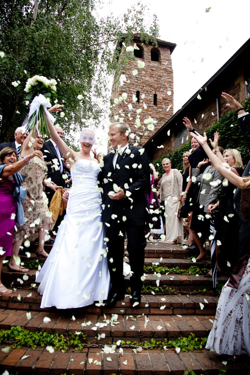 Ceremony Exit With White Rose Petals Photo By South Africa Based