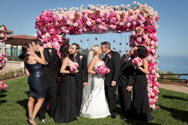 bridal party photo by Los Angeles based wedding photographer Ira Lippke