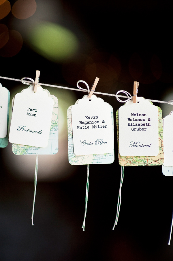 Clothing line name tags at wedding reception - Wedding Photo by Justin and Mary Marantz