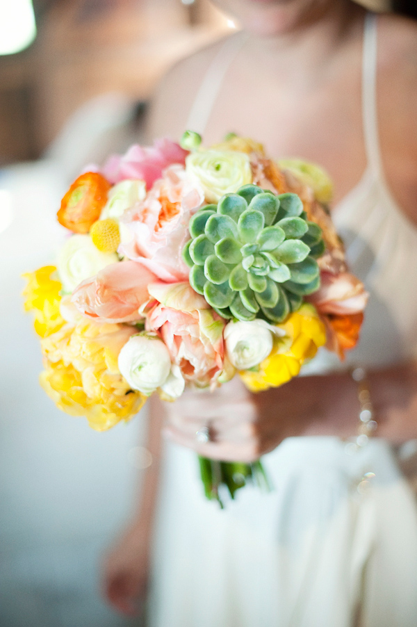 Bright and colorful wedding bouquet - Wedding Photo by Justin and Mary Marantz