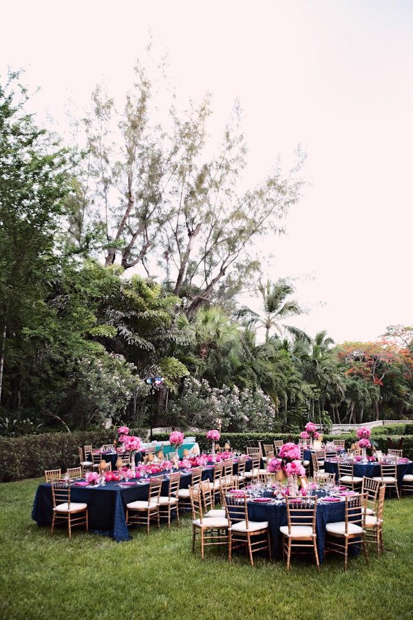 outdoor seating arrangement for the wedding reception dinner - photo by North Carolina based wedding photographer Kristin Vining