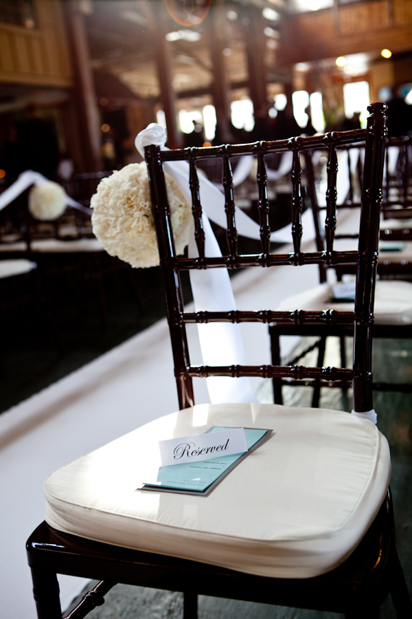 Color Photo Of Ceremony Seating Details Ivory Seat Covers Photo