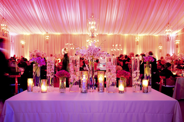 candles and bouquets at reception - wedding photo by top South Carolina wedding photographer Leigh Webber