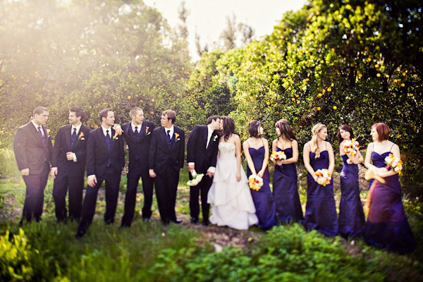 Purple Wedding Party Ties