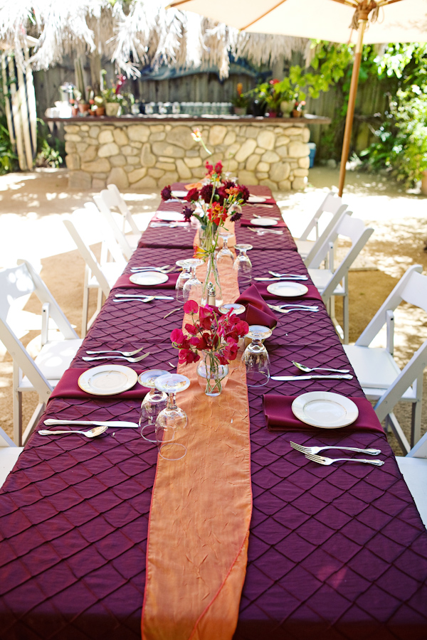Outdoor wedding reception tabletop details burgandy and orange outdoor wedding reception tabletop details burgandy and orange color palette photo by southern junglespirit Image collections