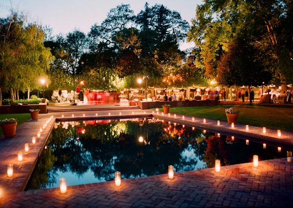 Candlelight Pool Wedding Photo By Meg Smith Photography Wedding Inspiration Board Junebug Weddings