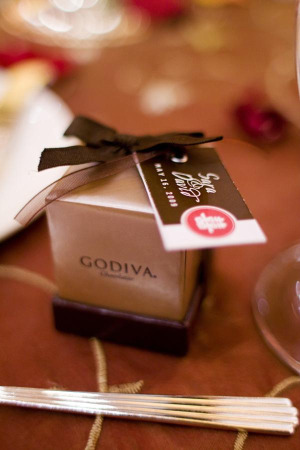 Godiva Chocolate Wedding Favor Photo By Melissa Jill Photography