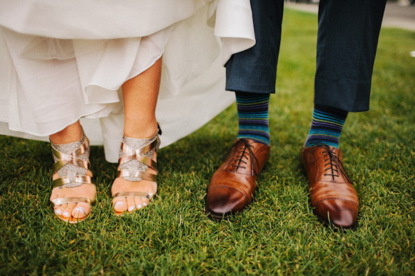 Stylish wedding day shoes for the bride and groom - wedding photo by Benj Haisch
