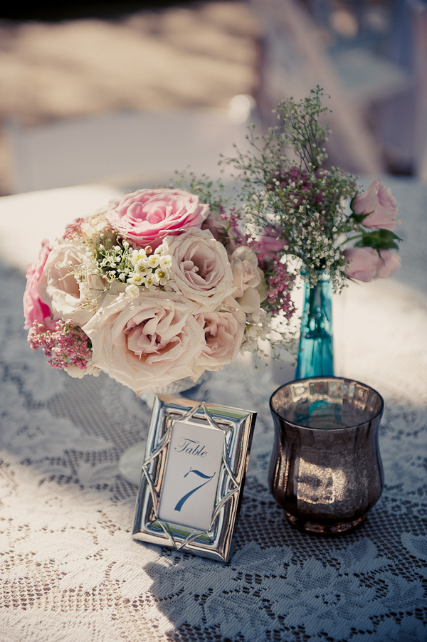 Vintage-inspired wedding centerpiece - Wedding Photo by Elizabeth Davis