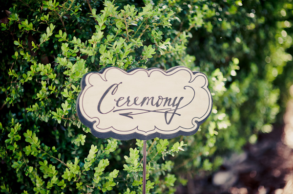 Vintage-style wedding ceremony sign  - Wedding Photo by Elizabeth Davis