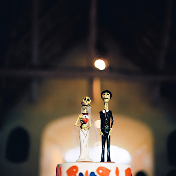 dia de los muertos cake topper - Sayulita, Mexico destination wedding photo by Mexico wedding photographer Jillian Mitchell