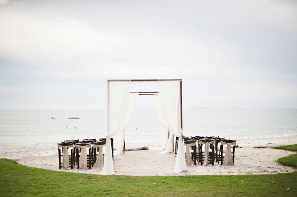intimate destination ceremony on beach in Mexico, Photo by Jillian Mitchell Photography