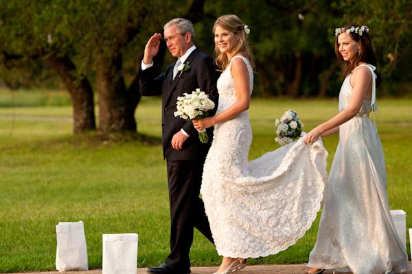 Photo By Washington Dc Wedding Photographer Paul Morse Jenna Bush Walking Down The Aisle With