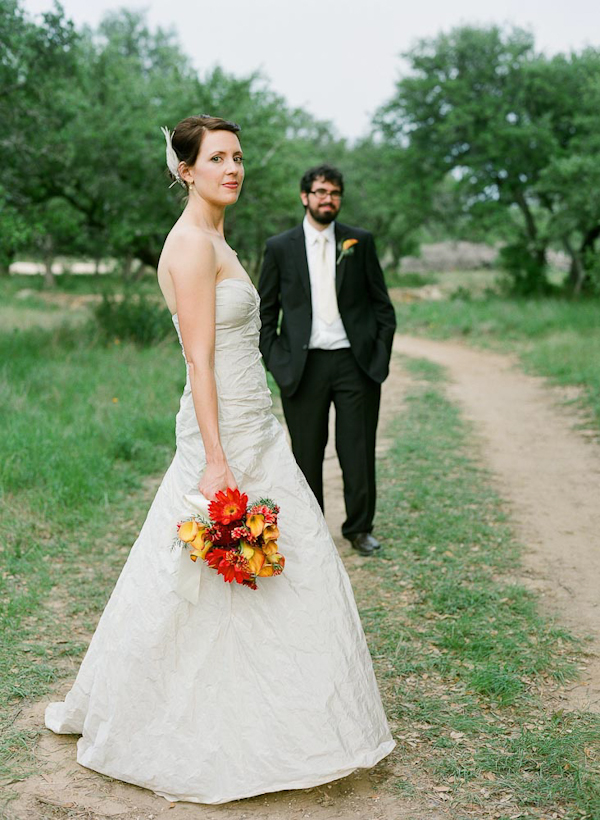 Outdoor bride and groom portrait - wedding photo by top Austin based wedding photographers Q Weddings