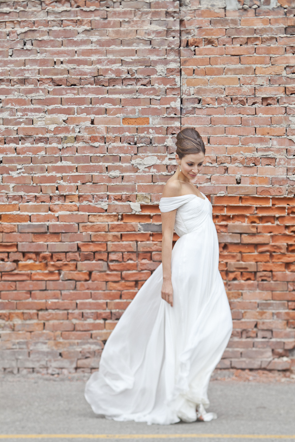 Elegant Bridal Portrait Against A Brick Wall Wedding Photo By Top Canadian Wedding Photographer Rebecca Wood Wedding Inspiration Board Junebug Weddings