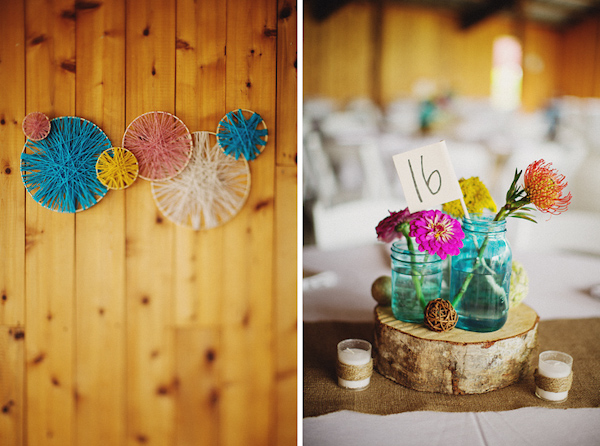 Colorful and fun florals and wedding decor - Photo by Ryan Flynn Photography