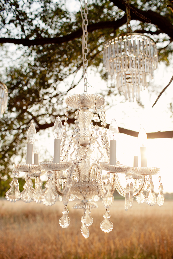 Hanging outdoor chandeliers - Photo by Studio 6.23