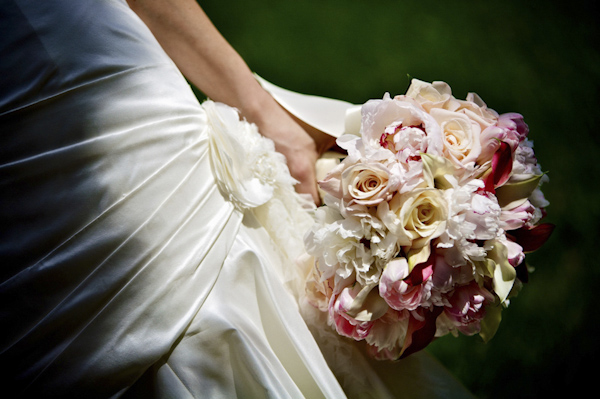 soft pink and ivory bridal bouquet - wedding photo by top Atlanta-based wedding photographer Scott Hopkins Photography