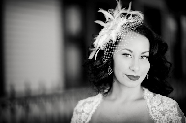 Stunning portrait of bride with vintage wedding style - photo by top Atlanta-based wedding photographer Scott Hopkins Photography