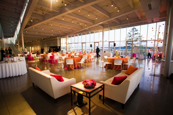 Olympic Sculpture park wedding reception - real wedding photo by ...
