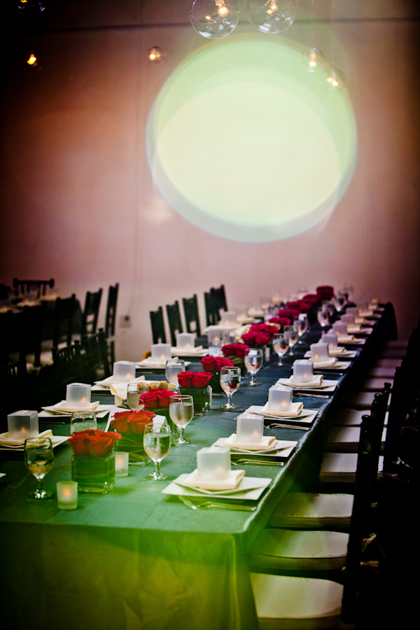 reception tabletop details - photo by New Mexico based wedding photographers Twin Lens Images
