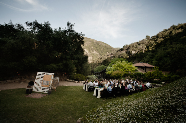 intimate outdoor ceremony and reception site - music inspired DIY wedding - photos by top Orange County, CA wedding photographers Viera Photographics