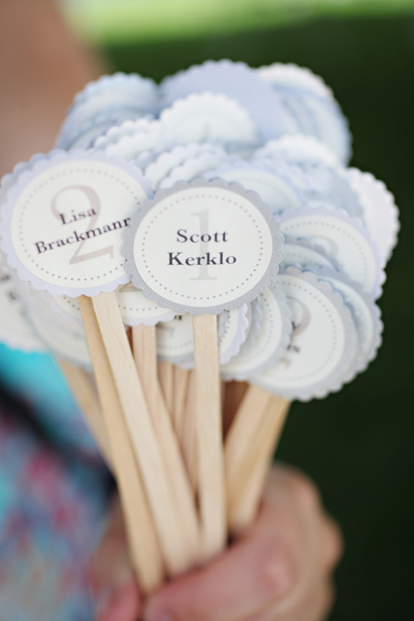Nametags For Wedding Reception Tables