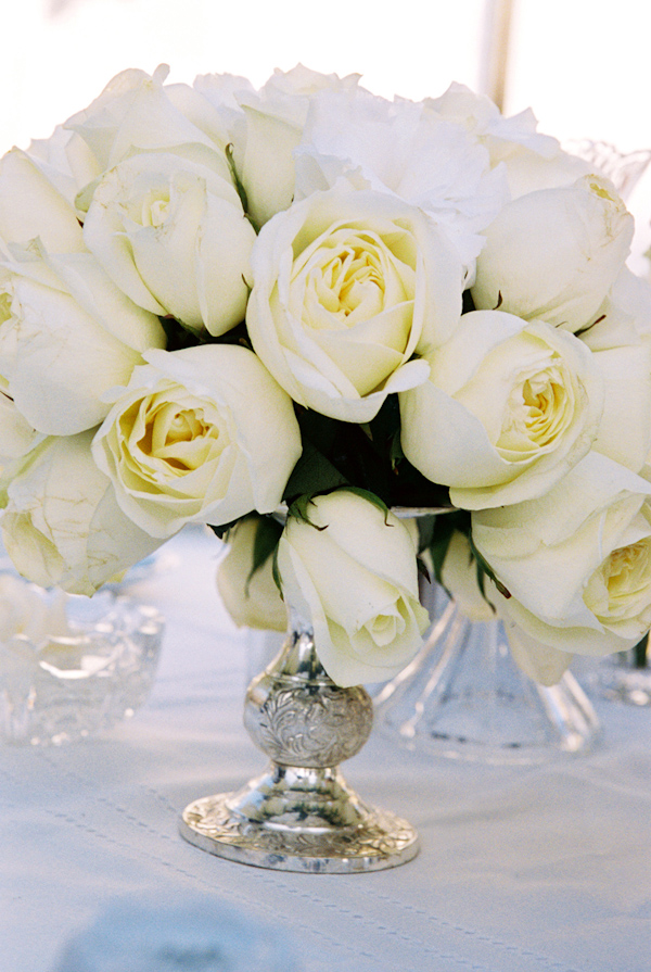 White rose wedding centerpiece photo by yvette roman photography white rose wedding centerpiece photo by yvette roman photography mightylinksfo