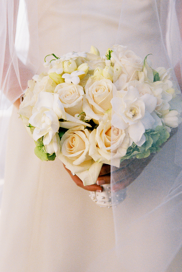 white wedding bouquet photo by Yvette Roman Photography