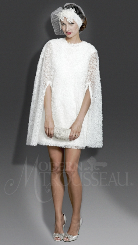 Modern Trousseau - Fall 2014 Bridal Collection - The Molly Cape Dress</p>