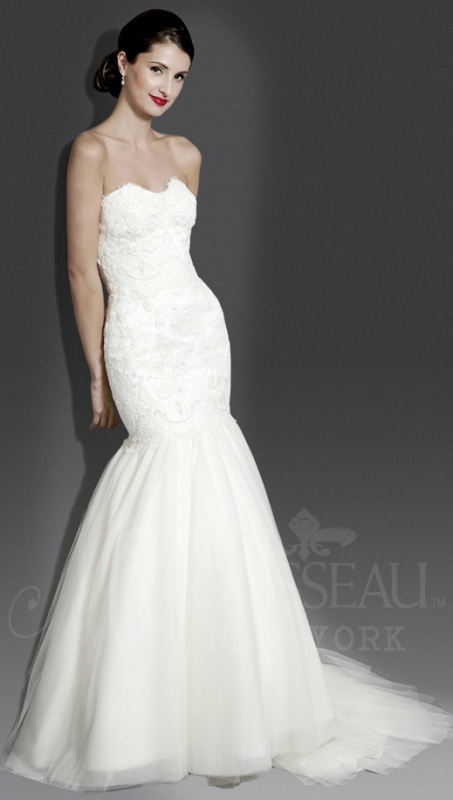 Trouwjurk Modern.Modern Trousseau Wedding Dresses Fall 2014 Bridal Collection
