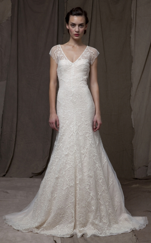 Lela Rose  - Fall 2014 Bridal Collection - The Forest Dress</p>