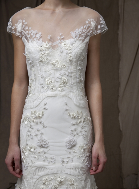 Lela Rose  - Fall 2014 Bridal Collection - The Trellis Dress</p>