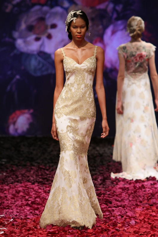 Claire Pettibone - Fall 2014 Bridal Collection - Alchemy Wedding Dress</p>