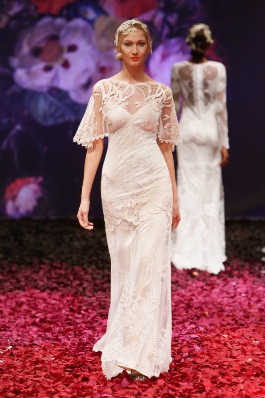 Claire Pettibone - Fall 2014 Bridal Collection - Amaryllis Wedding Dress</p>