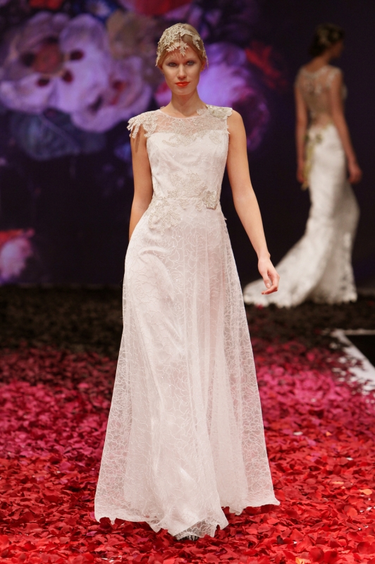 Claire Pettibone - Fall 2014 Bridal Collection - Gossamer Wedding Dress</p>