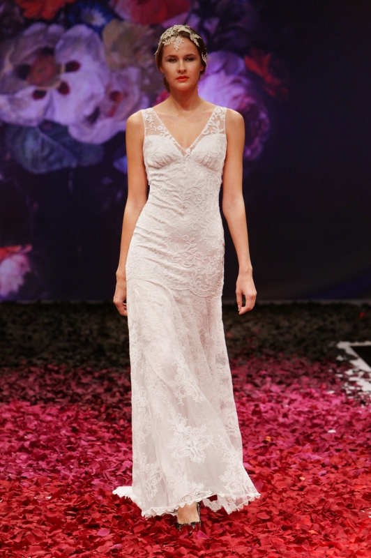 Claire Pettibone - Fall 2014 Bridal Collection - Iris Wedding Dress</p>