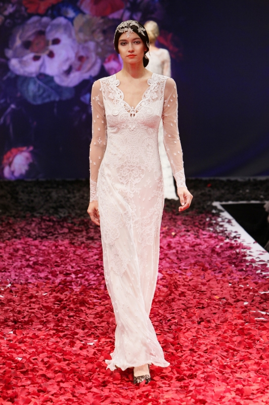 Claire Pettibone - Fall 2014 Bridal Collection - Lily Wedding Dress</p>