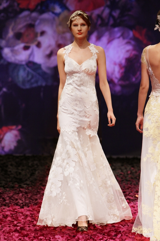 Claire Pettibone - Fall 2014 Bridal Collection - Mariposa Wedding Dress</p>