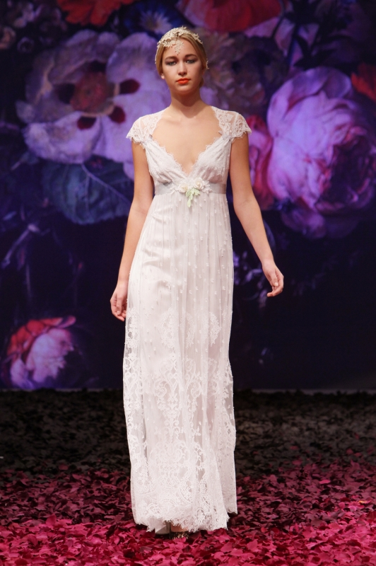 Claire Pettibone - Fall 2014 Bridal Collection - Minuet Wedding Dress</p>
